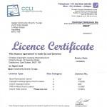 CCLI licence 2015