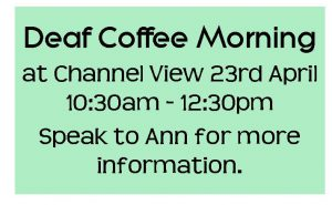 Deaf Coffee Morning